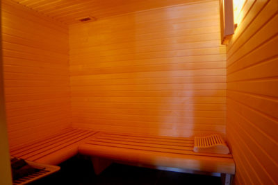 le sauna du chalet winterfell